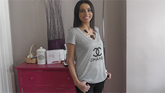 DIY-How to make a Chanel logo tee shirt