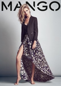 jupe imprimée animal mango - Kate Moss