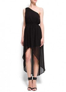 robe asymétrique mango - Kate Moss
