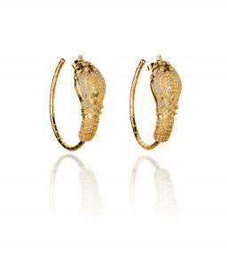 boucle d'oreille doré Anna Dello Russo H&M