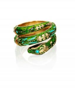 bracelet doré et crocodile Anna Dello Russo H&M