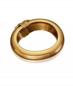 collier large doré Anna Dello Russo H&M