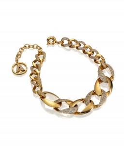 collier métal doré épaisse Anna Dello Russo H&M