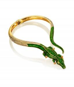 collier doré crocodile Anna Dello Russo H&M