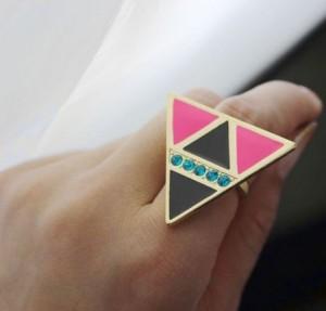 bague triangle ebay