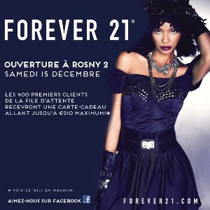 Forever 21 Rosny inauguration 15 décembre 2012