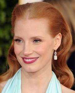 Jessica Chastain golden globes Awards 2013 best of beauty