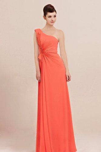 Robe de soiree longue orange