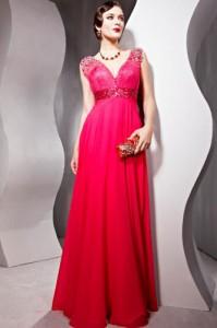 robe soirée rouge modareine