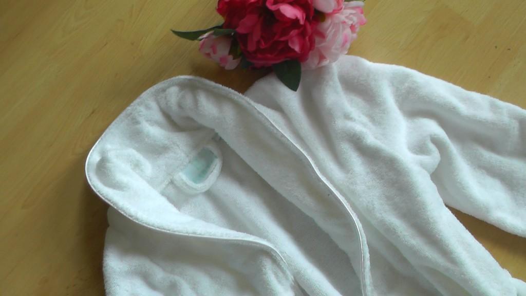 peignoir blanc bailet