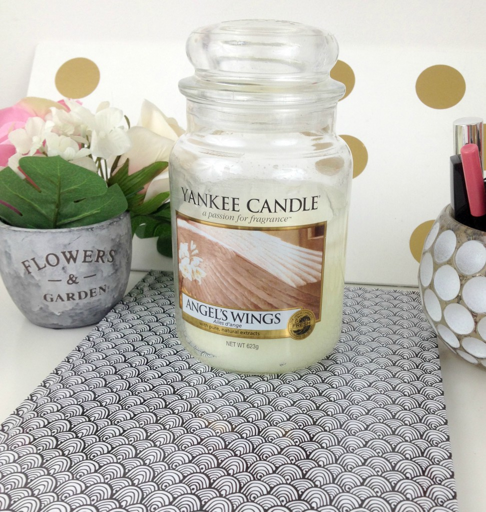 bougie angel wings yankee candle oups lille