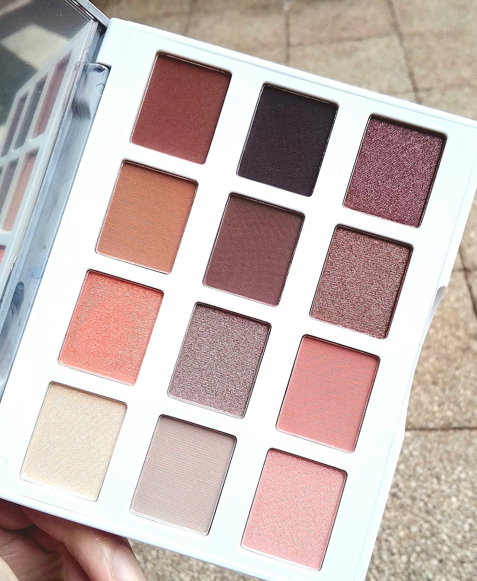 palette marble warm stone bh cosmetics addictshoppeuse