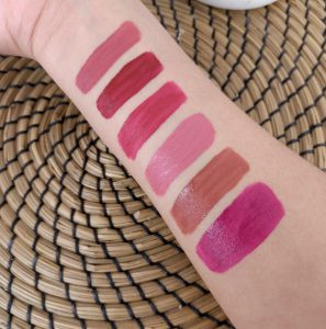 swatchs liquid lipstick the balm