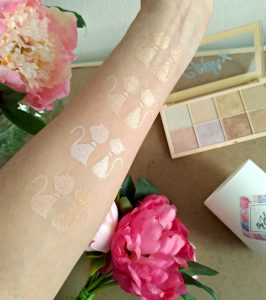 swatchs Palette highlighter soph'x collection makeup revolution