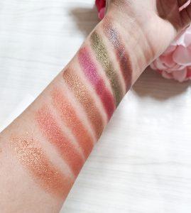 swatchs palette fards à paupières soph'x makeup revolution