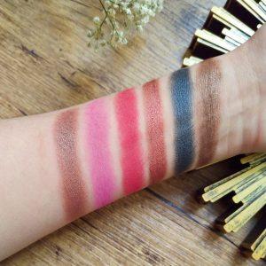 swatchs palette petra makeup révolution