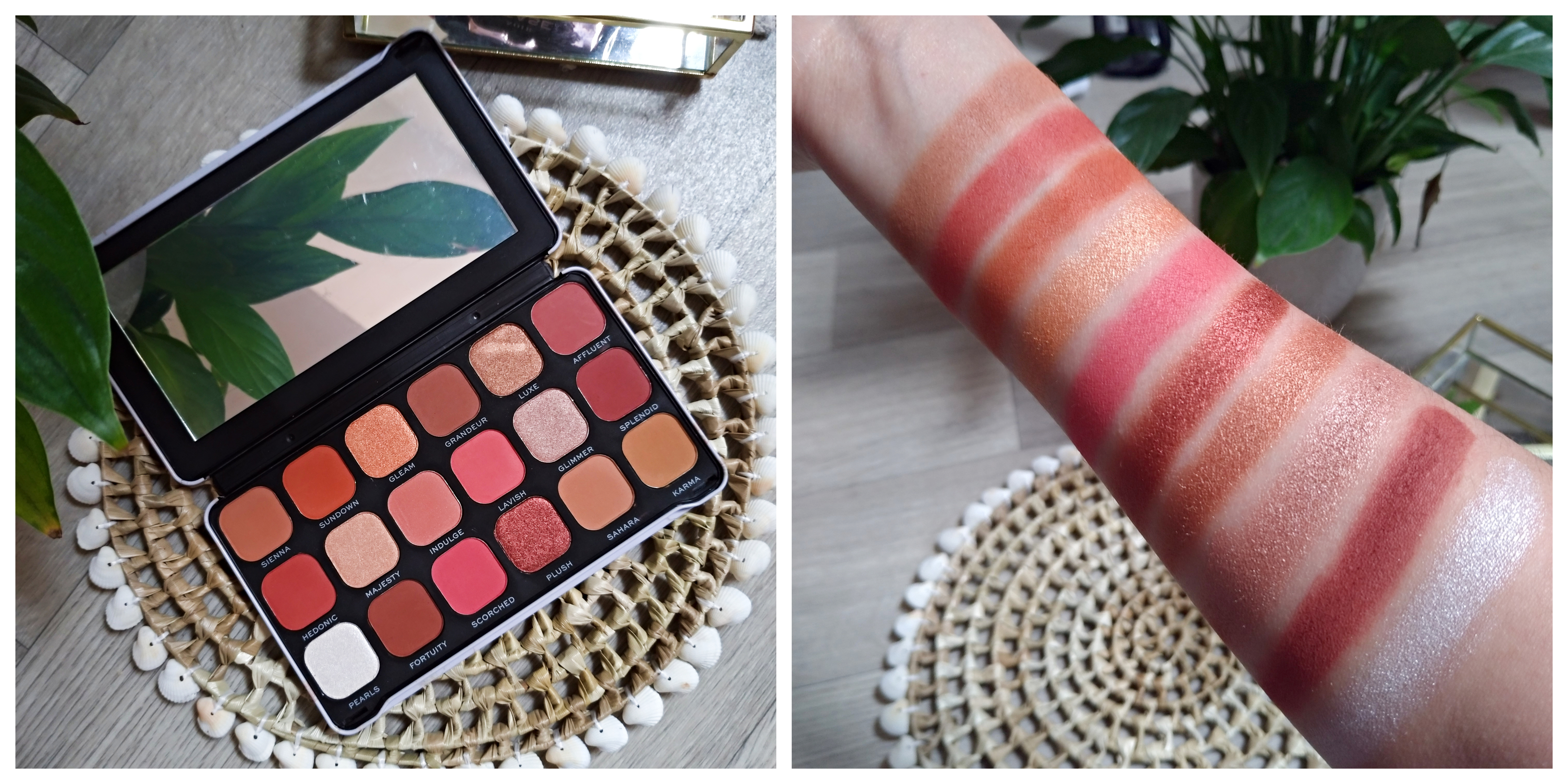 swatch palette decadent makeup revolution