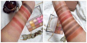 Swatch Foil Frenzy Palette Makeup Revolution Fusion et creation